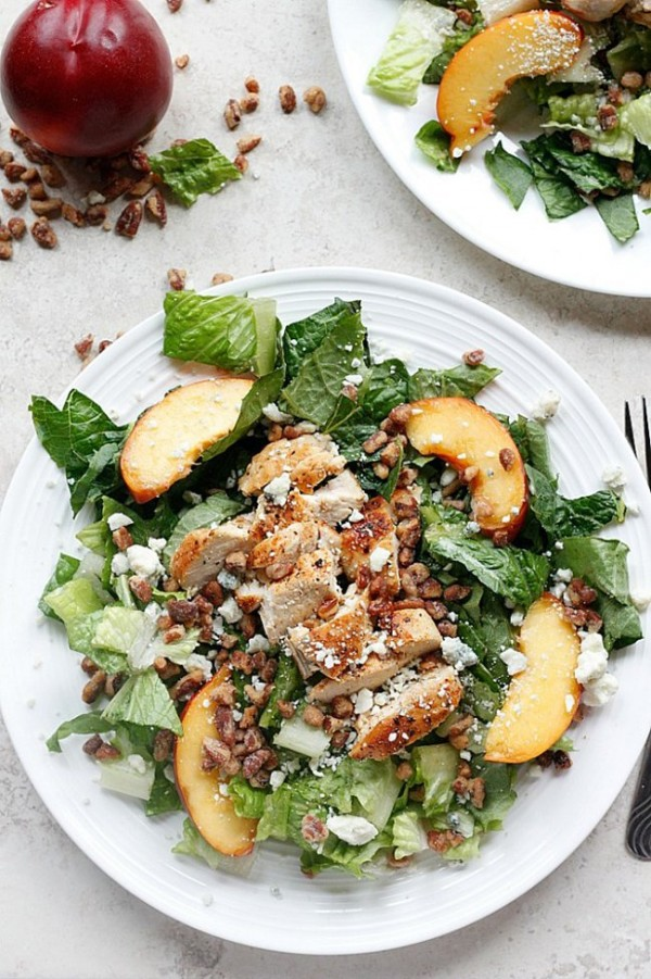 Chicken, Nectarine, and Gorgonzola Salad | A Cedar Spoon