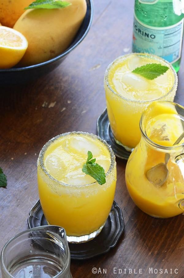 Mango Meyer Lemon Margarita Mocktails | An Edible Mosaic