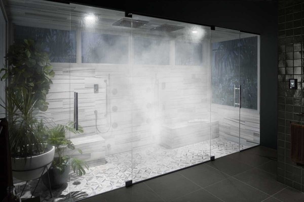 A luxurious steam shower.