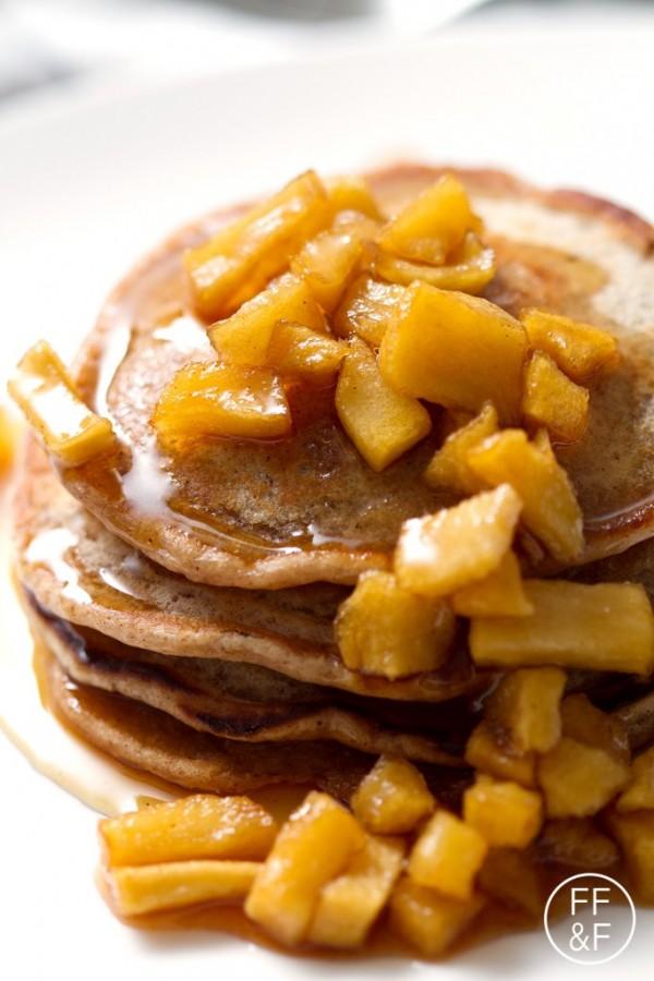 Apple Cinnamon Pancakes (egg-free, dairy-free)