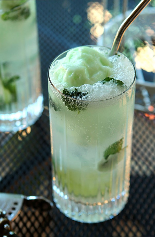 Lime Sherbet Mojito Float