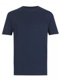 M&s Collection Online Only Pure Cotton Slim Fit Stay Soft T-shirt With Staynew