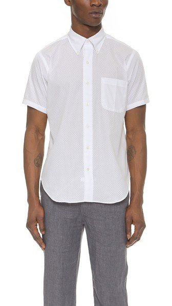 Mark McNairy Perforated Shirt