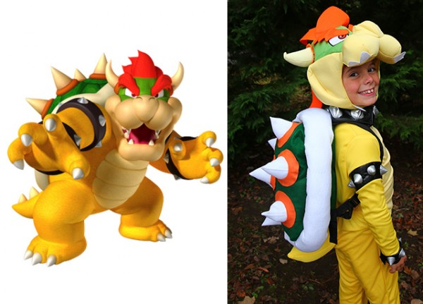 Bowser King Koopa Costume for Mario Bros. Family Costume
