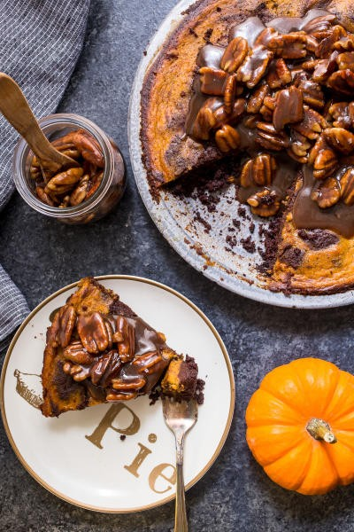 Bourbon Brownie Pumpkin Pie Picture