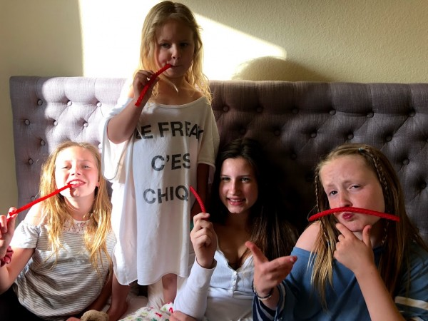 Fun with Licorice: Neve, Vendela, Oona, and Iona