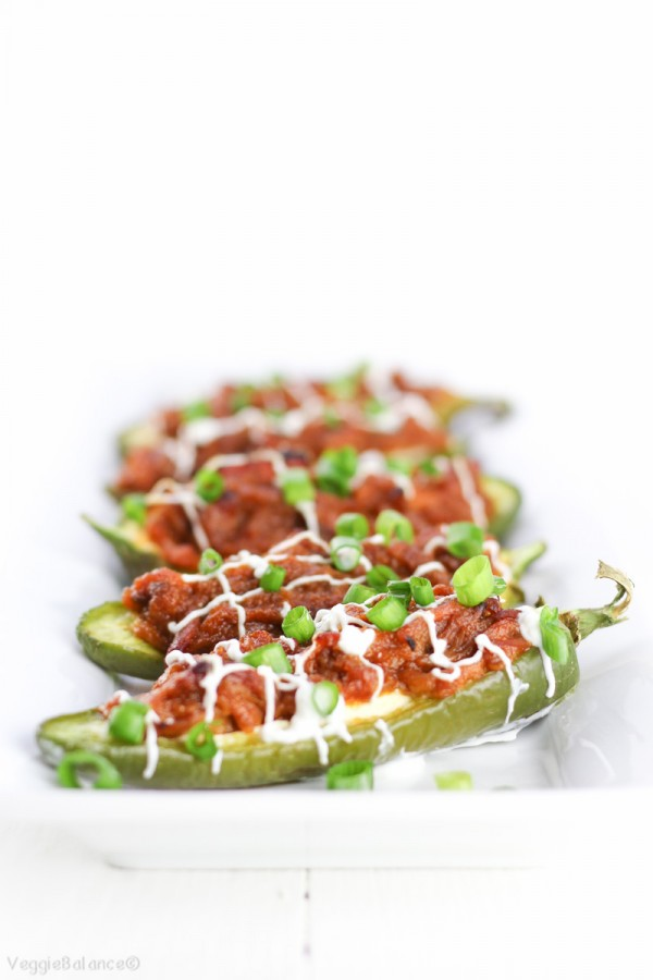 Stuffed Jalapeños Peppers Recipe with Pulled Pork Gluten-Free Dairy-Free Healthy