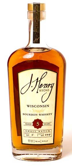 J. Henry & Sons Wisconsin Straight Bourbon Bottle
