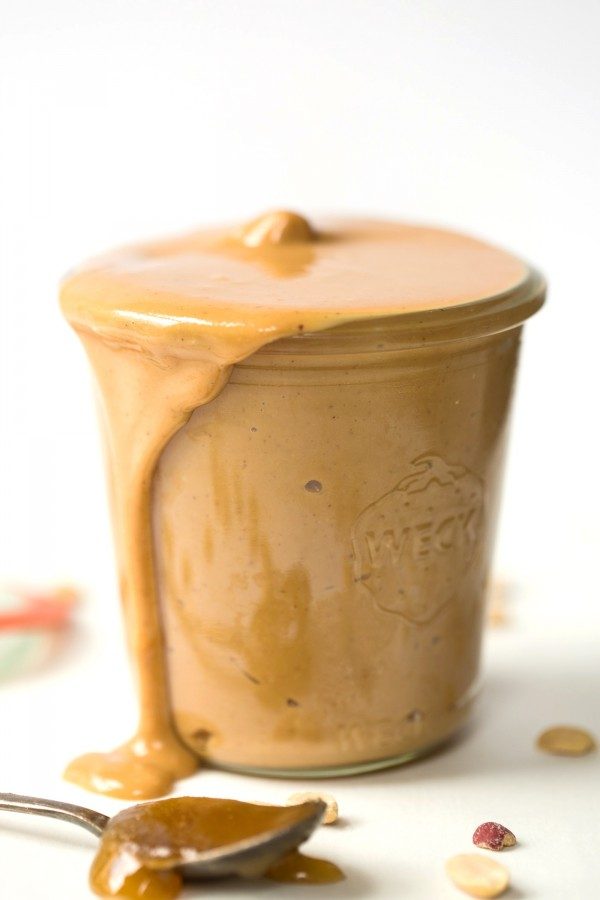 Honey Roasted Peanut Butter -- only three ingredients, super simple and SO delicious!