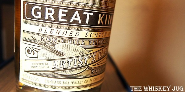 Compass Box Great King St Artist's Blend Label