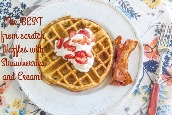 The Best Strawberry and Cream Waffles #Epicurious #outofthekitchen