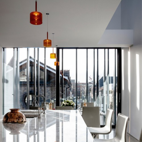 Percy Lane Mews is a minimalist house located in Dublin, Ireland, designed by ODOS architects. (11)
