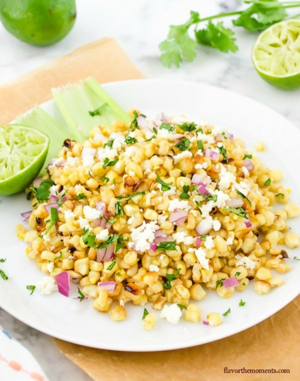 Grilled Mexican Street Corn Salad | Flavor the Moments