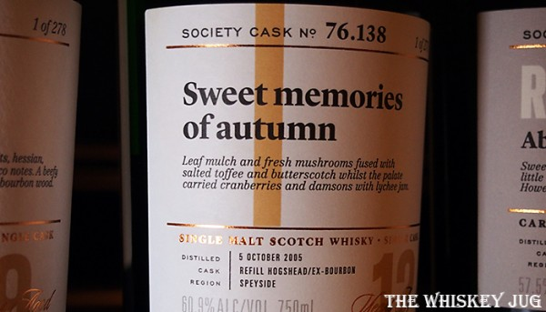 Label for the Sweet Memories Of Autumn