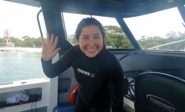 Lisa Niver scuba diving Coolidge in Vanuatu