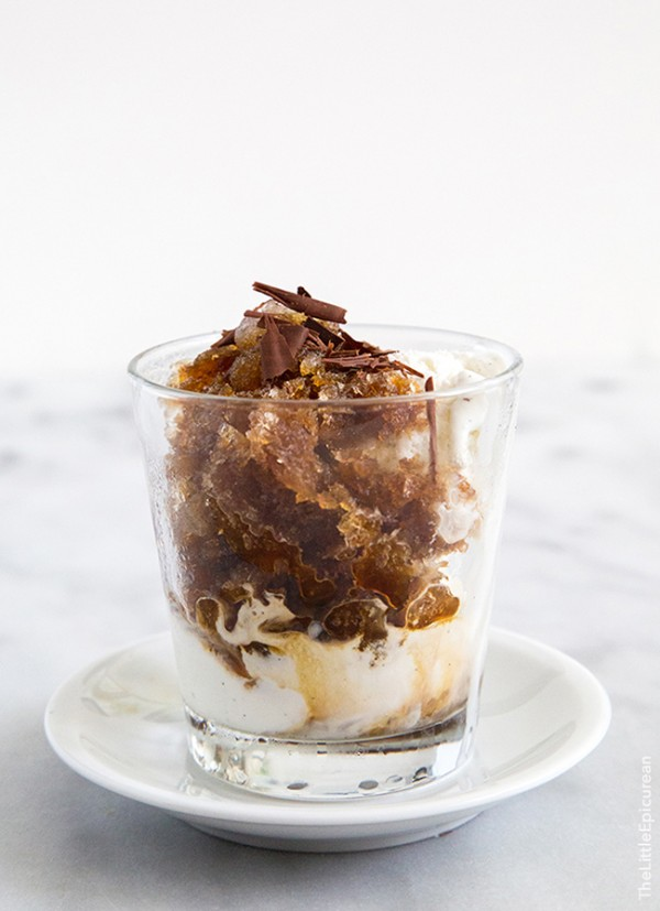 Espresso Granita with Vanilla Ice Cream | The Little Epicurean