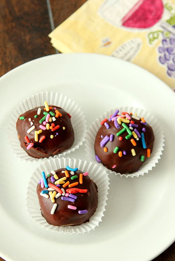 Milk Chocolate Coated Peanut Butter and Coconut Balls