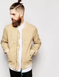 Scotch & Soda Bomber Jacket In Garment Dye Cotton