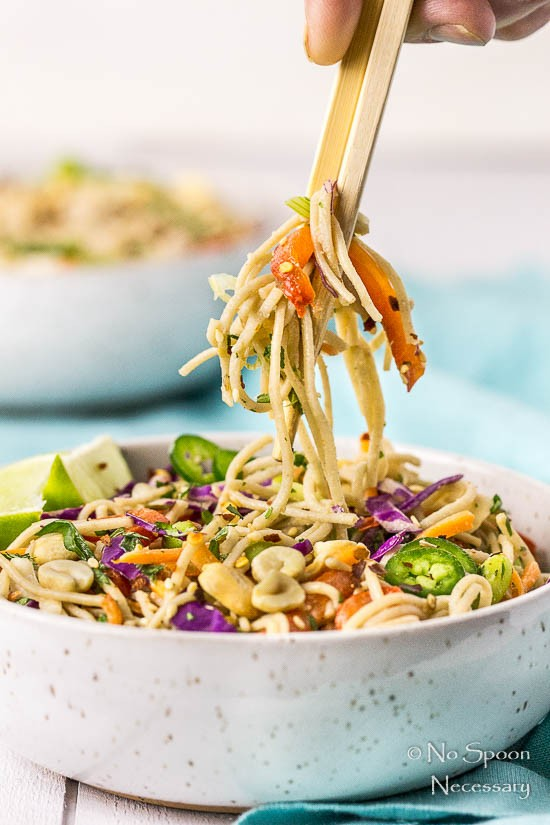 Thai Veggie Soba Noodle Bowls with Ginger-Tahini Dressing-75