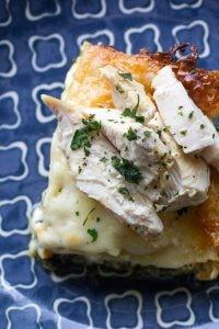 Chicken Alfredo Lasagna with Spinach