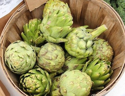 Artichokes with Salted Garlic Butter |LocalSavour.com