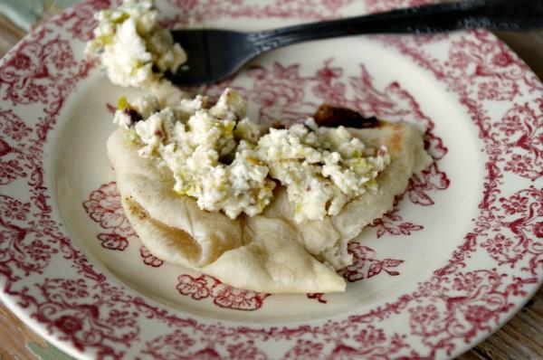 Lemony Feta and Pita Bread