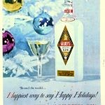 Gilbey's gin holiday ad 1958