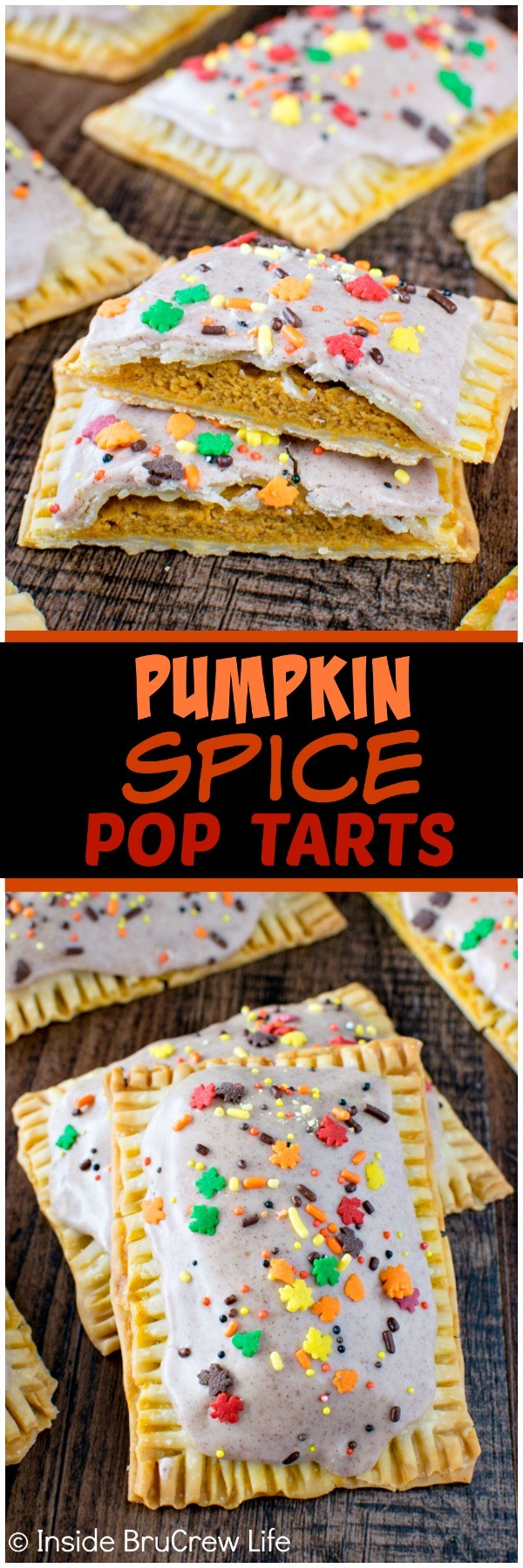 Pumpkin Spice Pop Tarts - use pie crusts to make your own homemade breakfast pastries. These easy tarts are full of pumpkin and spice goodness. Great fall breakfast!