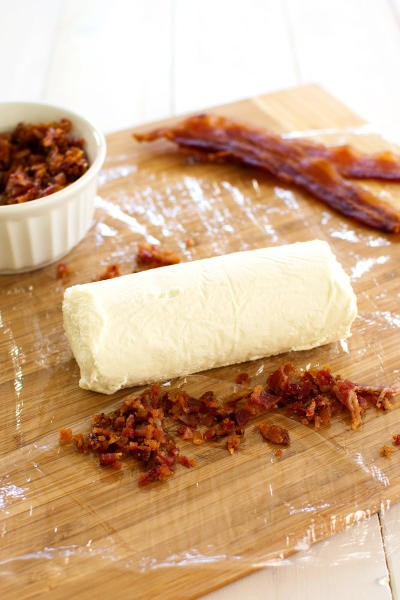 Bacon Goat Cheese Log Picture