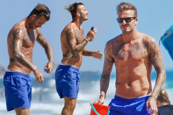 David Beckham summer look