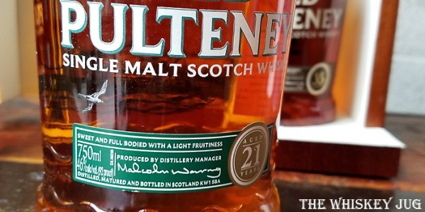 Old Pulteney 21 Years Label