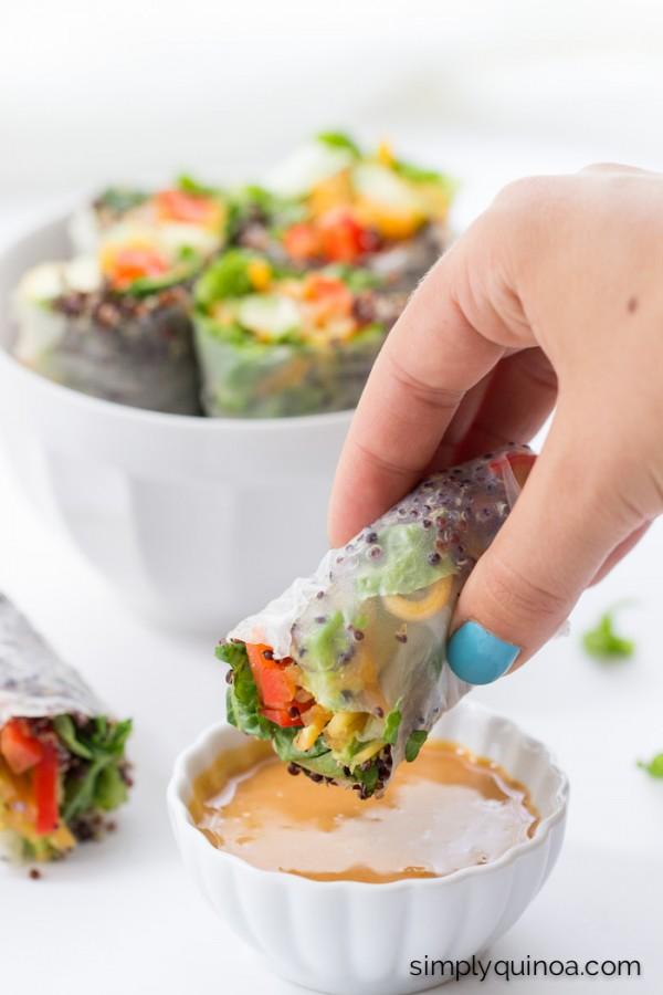 Quinoa Summer Rolls with a Thai Peanut Sauce by Alyssa ...