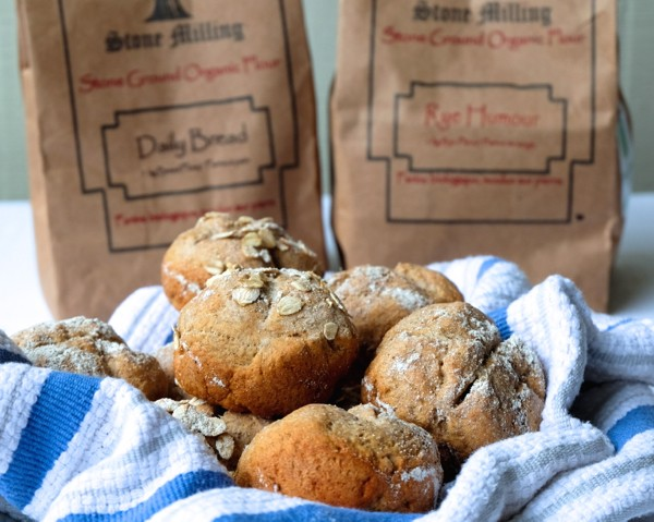 Rye soda bread rolls on eatlivetravelwrite.com