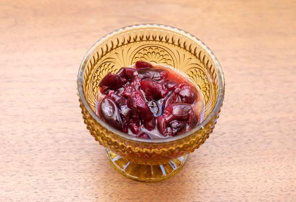 Spiced Cherry Cobbler Cocktail // stirandstrain.com