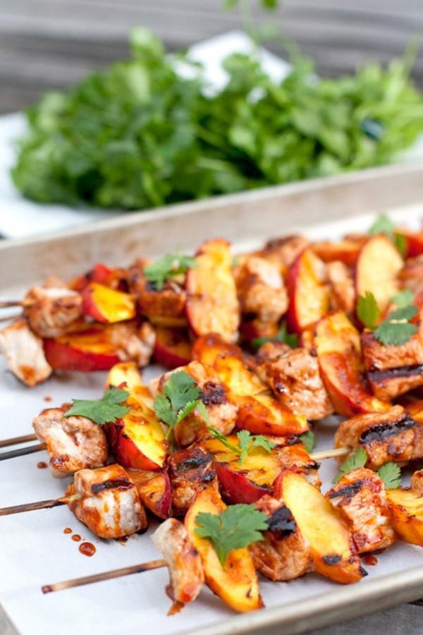 Spiced Pork and Peach Kabobs   Muy Bueno Cookbook