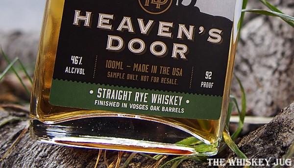 Label for the Heaven's Door Rye