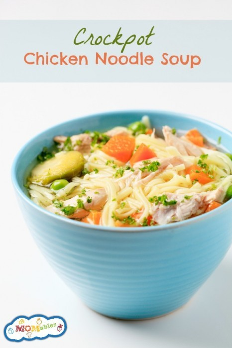 Crockpot Chicken Noodle Soup - MOMables.com