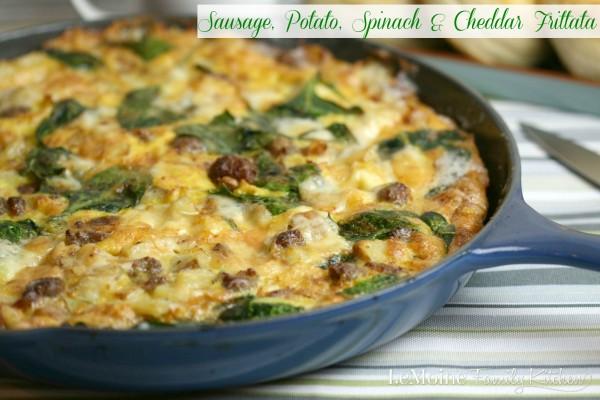 Sausage, Potato, Spinach & Cheddar Frittata | LeMoine Family Kitchen ...