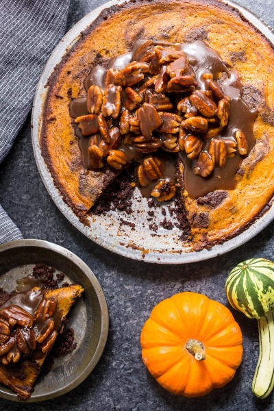 Bourbon Brownie Pumpkin Pie Image