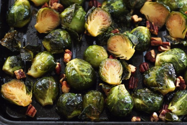 Maple Roasted Brussels Sprouts with Sriracha Image