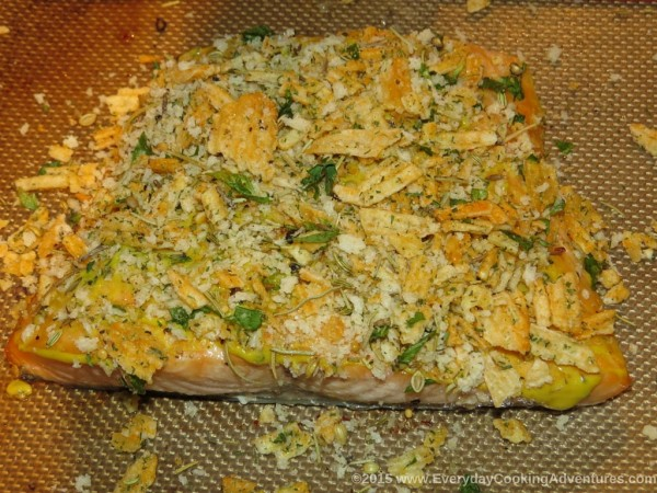 Broiled Salmon with Potato Chip Crust ©EverydayCookingAdventures2015