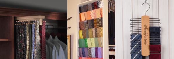 Different ways to store ties