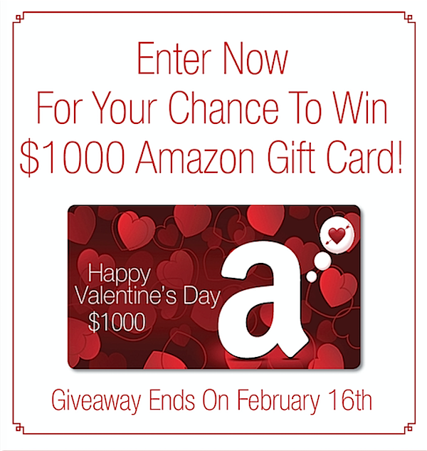 Click to enter for a chance to win a $1000 Amazon Gift Card!