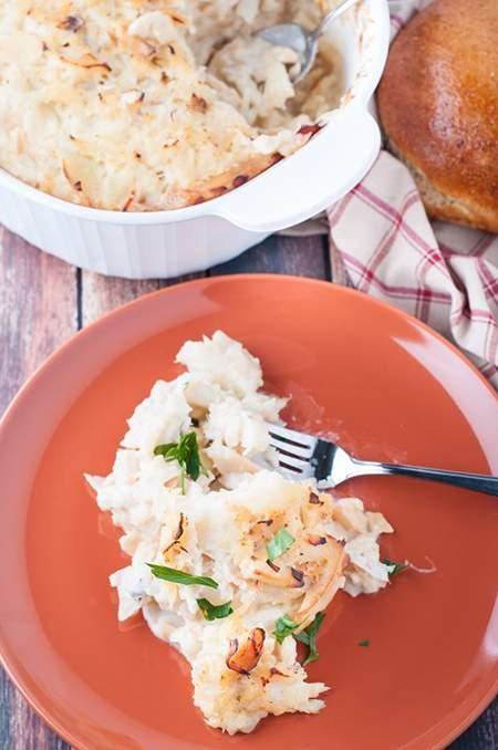 Portuguese cod in cream sauce bacalhau de natas by for Portuguese cod fish recipes