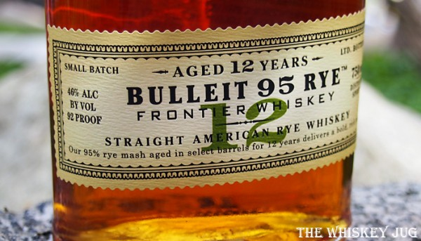 Bulleit 12 Year Old Rye Whiskey Label