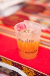 Pisco Porton Punch with Chef's Garden flower at Defining the Ultimate Pisco Punch, photo ctsy Trade Commission of Peru in Miami