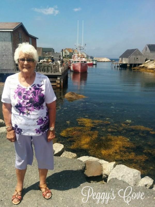 Aida at Peggys Cove