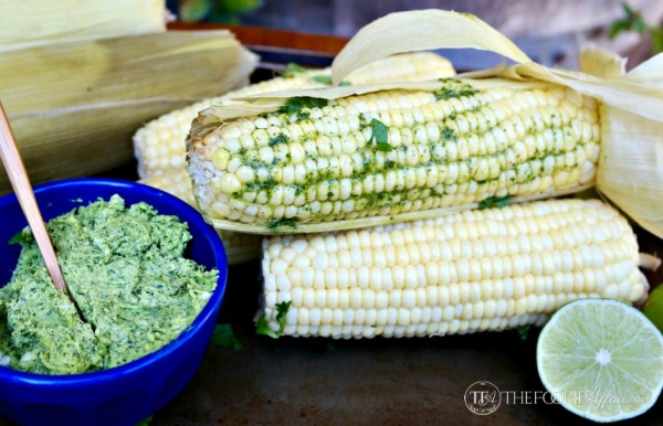 Slow Cooker Corn on the Cob with Cilantro Lime Butter by The Foodie ...