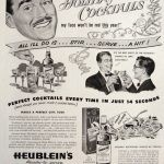 heublein's holiday cocktails ad