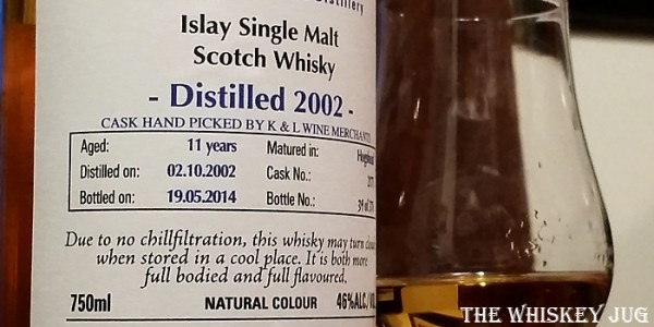 2002 Signatory Bowmore 11 Years Label